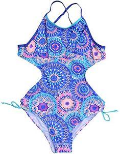 Amazon.com: teen swimsuits for teenagers girls one piece Swimsuits For Teens, Kids Swimwear, Bikini Swimwear, Bikini Set, One Peice Bathing Suits, Girls Bathing Suits, One Piece Swimsuit, Bath Girls, Kids Girls