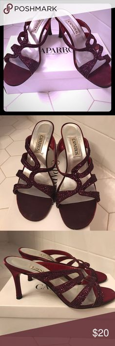 Like New! Caparros Raspberry Strappy Sandals Like New! Caparros Raspberry Strappy Sandals with sequins detail. Excellent condition Caparros Shoes Sandals