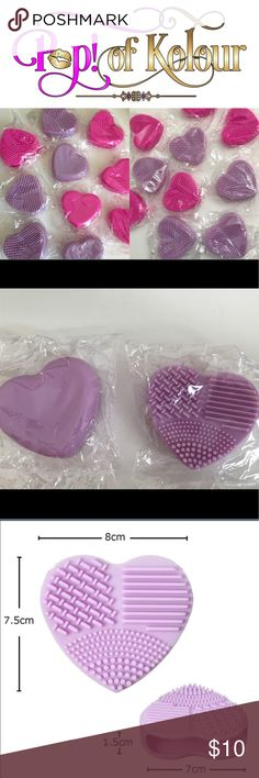 """💜 Heart (Purple) Makeup Brush Cleaner 💜 Heart (Purple) Makeup Brush Cleaner; """"Silicone Heart Makeup Brush Cleaner""""; or Request 2 for $10 Sephora Makeup Brushes & Tools"""