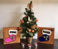 """Cuadros String Art """"Calcetines"""" #hilorama #clavos #hilos #nails #wood #homemade #diy #manualidades #stringart #fils #madera #string #hechoamano #manualitats #socks #calcetines #mitjons #navidad #nadal #xmas #christmas"""