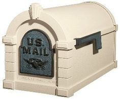 Gaines Keystone Mailbox Almond with Verde Brass by Gaines. $229.00. The Original Keystone Series Mailboxes by Gaines Manufacturing-Level One Gaines manufacturing offers high quality products made here in the USA! The original Keystone Series Residential Curbside Level One Mailbox features a commanding solid brass door with US Mail and patriotic eagle emblem. The Keystone Series Mailbox provides decorative and durable aluminum mailboxes that add style and beauty to every curbside....
