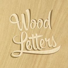 Wood Letters  Enjoying Hipster Script by Sudtipos