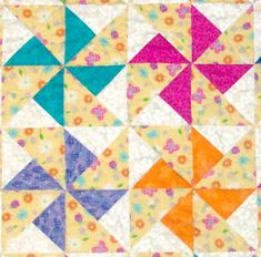 Double Pinwheel quilt block from my favorite quilt book,