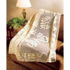 Mary Maxim - Butterflies Afghan - Knit & Crochet
