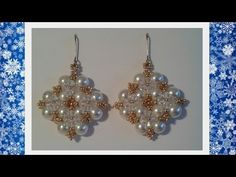 Winterglow Earrings Beading Tutorial by HoneyBeads - YouTube