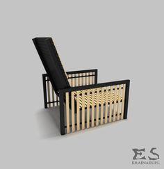 Chair, black armchair, iron, wood, pine, industrial, furniture, minimalism, mat, krzesło, fotel, drewno, minimal, Jim, Kraina ES #chair, #armchair, #ironchair, #krzesło, #fotel
