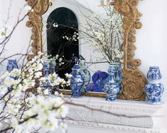 Blue & White: The Always-Fashionable Color Combination <3 Interior Design by Carolyne Roehm