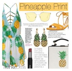 """Pinapple Print"" by tasnime-ben ❤ liked on Polyvore featuring Via Spiga"