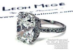 "Pin von Mary Bradley auf ""Diamonds Are a Girls Best Friend"" | Pintere… #silver -  #leon mege  #engagement ring"
