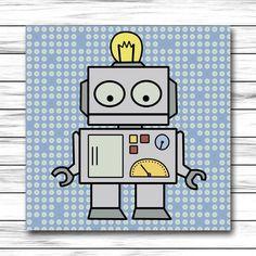 Ens ame a leer el robot hulot una herramienta - Cuadros decorativos para ninos ...