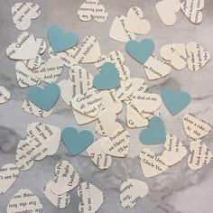 This pack contains approx 100 pieces of confetti which has been lovingly hand punched from a Harry Potter book. Each heart measures approx 1 inch and in each pack you will receive 100 pieces of confetti. This confetti would be great for scattering on tables as decorations or sprinkling on the floor. You can also use them for paper craft and scrapbooking *By purchasing from BookCornerBunting you are helping to rescue old, unwanted or damaged books that wouldve been destined for landfill…