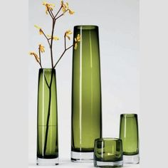 Beautiful vases - would be great with a paper flower arrangement using Cricut Art Philosophy cartridge.