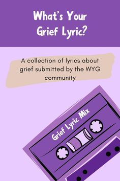 Choose one song lyric or verse to express the grief you're feeling right now, in this moment. What is it? We asked the What's Your Grief community about the grief lyrics that resonate with them and together we made a playlist of over 70 songs.   #grief #music #griefmusic #lyrics #grieflyrics #verse  #griefverse #griefandloss #griefquotes #griefcoping #musicaboutgrief via @whatsyourgrief Wish You Are Here, Believe In You, I Sent You, Told You So, One Song Lyrics, Never Love Again, Hey Brother, Grief Poems, Tears In Heaven