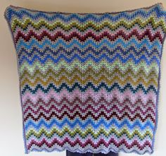 Crafting Life in Eire: Crochet Granny Chevron Blanket TaDah!