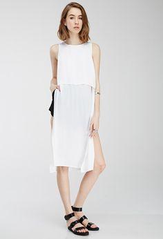 High-Slit Layered Dress | FOREVER21 - 2000136492