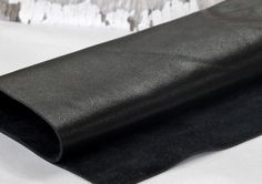 Black  Genuine Leather , Soft  Leather, Cowhide by JLLeatherSupplies on Etsy