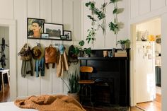 Bedroom Fireplace, Fireplace Mantle, Living Room Bedroom, Studio Apt, Kitchen Paint Colors, Creative Storage, Linen Duvet, Dream House Plans, Living Spaces