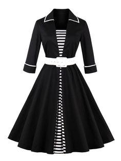 Long Sleeve Vintage Dresses, Plus Size Vintage Dresses, Vintage Girls Dresses, 1940s Dresses, Women's Dresses, Women's Fashion Dresses, Cute Dresses, Sleeve Dresses, Cheap Dresses