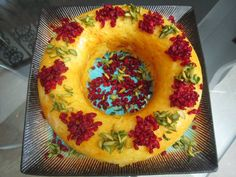 Tah-Chin: Persian Dish Made with Rice, Saffron, Eggs and Yogurt. It is usually filled with chicken. تهچی