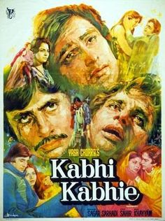 Old Bollywood Movies, Bollywood Posters, Vintage Bollywood, Bollywood Songs, Old Movie Posters, Cinema Posters, Movie Poster Art, Film Posters, Kabhi Kabhi Movie