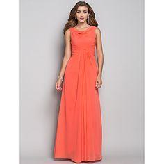 Sheath/Column Cowl Floor-length Chiffon Evening Dress (618856) – USD $ 129.99