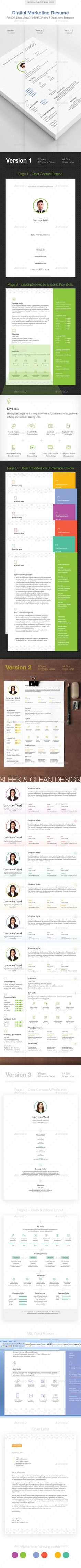 Marketer Resume  InDesign Template • Download ➝ https://graphicriver.net/item/marketer-resume/13157906?ref=pxcr
