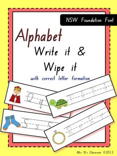 Write & Wipe - Initial Sounds --- These are fantastic for those students who need to work on letter formations. They could be used in literacy centers or even sent home as weekly homework practice. They can be used all year round and in many different ways.  Contents: There are 3 sets of cards in this pack: Set 1: Lowercase letters - 26 Write it &Wipe it Cards - dotted letters - 26 Write it &Wipe it Cads – outlined letters with numbered directions  Set 2: Uppercase letters - 26 Write it…