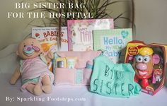 I wanted to be able to give Livie something special before leaving her for a few days at the hospital, so I made this Big Sister Bag for the Hospital. // Lynzy & Co.