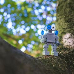Ez and I made a version of Keko from the amazing LEGO Space book and took him exploring.