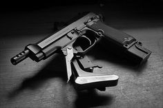 """The Beretta 93R is a selective fire machine pistol, designed and manufactured by Italian firearms manufacturer Beretta in the 1970s for police and military use, that is derived from their semi-automatic Beretta 92. The """"R"""" stands for Raffica, which is Italian for """"volley"""", """"flurry"""" or """"burst""""."""