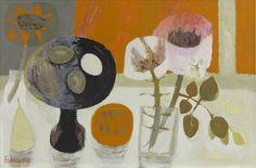 Mary Fedden | Eggs on a Black Dish