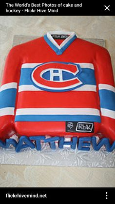 Montreal Canadian cake ideas 40th Birthday Cakes, Dad Birthday, Montreal Canadiens, Hockey Cakes, Cake Pop Tutorial, Sport Cakes, Cake Decorating Tutorials, Fancy Cakes, World Best Photos