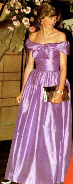 Princess Diana...in the perfect shade of purple