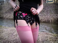 DIY a garter belt. I love this because it is a full sized garter belt and not a few pieces of lace like they try to sell you in stores.