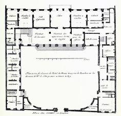 De Cotte's floor plan of the Hôtel du Maine, Paris