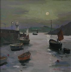 St Ives Harbour, Oil on Board by Eric Ward online at www.navigatorarts.co.uk