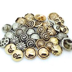 Bronze and White Bronze Buttons, $4 each in the Fun Extras Section- www.sakisilver.com