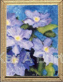 Blue Clematis Approx. 34mm x 48mm (1 5/8