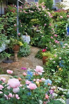Beautiful Small Cottage Garden Design Ideas For Backyard Inspiration English Garden Design, Cottage Garden Design, Beautiful Gardens, Beautiful Flowers, Home And Garden Store, Gardening Photography, Shade Flowers, Dream Garden, Garden Paths