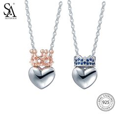 Cheap pendant necklace, Buy Quality pendant necklace for women directly from China pendant necklaces women Suppliers: SA SILVERAGE 925 Sterling Silver Heart Necklaces Pendants for Women Fine Jewelry Rose Gold Color 925 Silver Pendant Necklace Diamond Bar Necklace, Sterling Silver Heart Necklace, Silver Pendant Necklace, Silver Ring, 925 Silver, Silver Earrings, Argent Sterling, Perfume, Bridal Jewelry