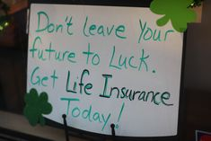 St Paddy's Day Life Insurance Ads? Sure why not.
