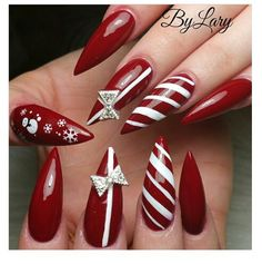 Follow Viral Pinterest: https://www.pinterest.com/lyndanna/pinterest/ ............... Christmas stilettos Follow Nails: .............Follow Nails: https://www.pinterest.com/lyndanna/nails/... #nail #