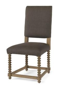 Discontinued Item Limited Stock Available 1 in East Hampton  Smith Spindle Leg Dining Side Chair with Carved Wood Spindle Legs Bottom Four Straight Wood Leg Stretchers No COM Available, Not Available in California  Also Available As Arm Chair