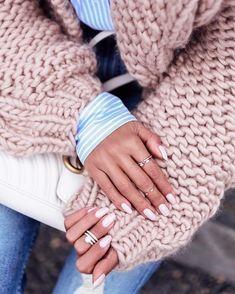 "9,831 Likes, 95 Comments - Annabelle Fleur (@vivaluxuryblog) on Instagram: ""Favorites ❤ this @ilovemrmittens knit & @opi_products gel in Tiramisu & @shopvivaluxury rings ✔…"""