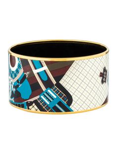 Extra Wide Enamel Bangle - I need to find some fun bracelets, I LOVE this one.