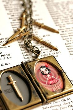 The Knife Thrower's Assistant (locket inside) - by Mab Graves