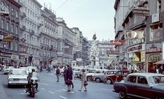 Downtown Vienna Austria 1966 - Architecture and Urban Living - Modern and Historical Buildings - City Planning - Travel Photography Destinations - Amazing Beautiful Places New York Washington, Colorized Photos, Managua, Old Time Radio, Quezon City, Historical Images, Vienna Austria, Most Beautiful Cities, Vintage Advertisements