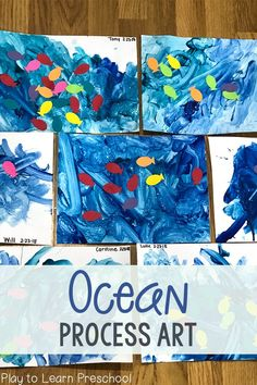 Ocean Process Art Project for Preschoolers - Schiff / Fisch / Meer Kiga - . - Ocean Process Art Project for Preschoolers – Ship / Fish / Sea Kiga – – In the f - Toddler Art Projects, Preschool Projects, Toddler Crafts, Preschool Activities, Projects For Kids, Crafts For Kids, Preschool Art Lessons, Beach Theme Preschool, Therapy Activities