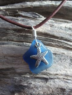 """Sea Glass Necklace Scottish SeaglassSurfers by byNaturesDesign, $14.00   Maybe my """"something blue"""""""