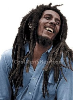 Bob Marley dreadlocks hairstyle. Im not cut out for the upkeep on this bad boy...